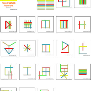 Wooden Craft Stick Pattern Cards- Rainbow Color - Meet The Needs