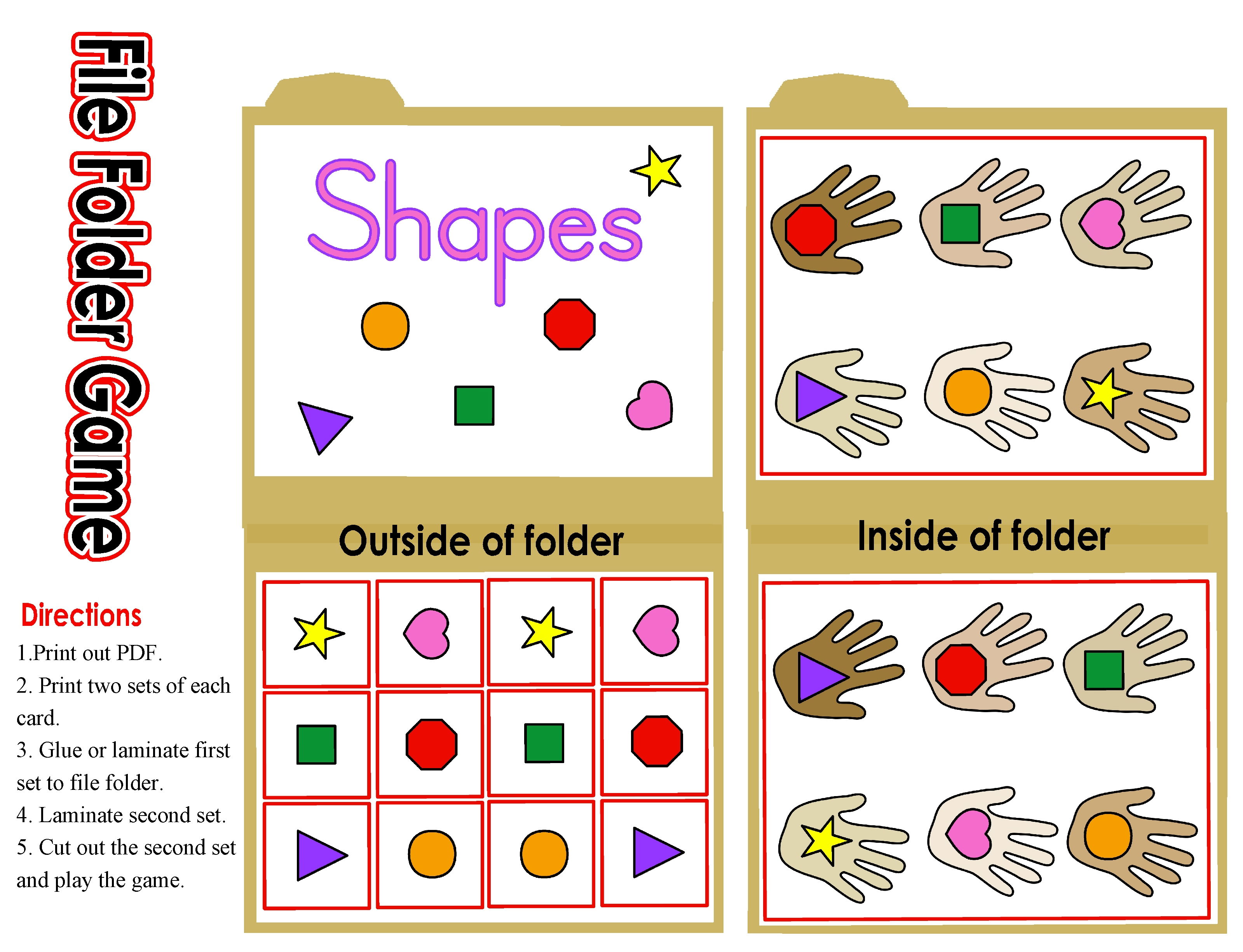 free file folder game templates shapes file folder game 2013 meet the needs