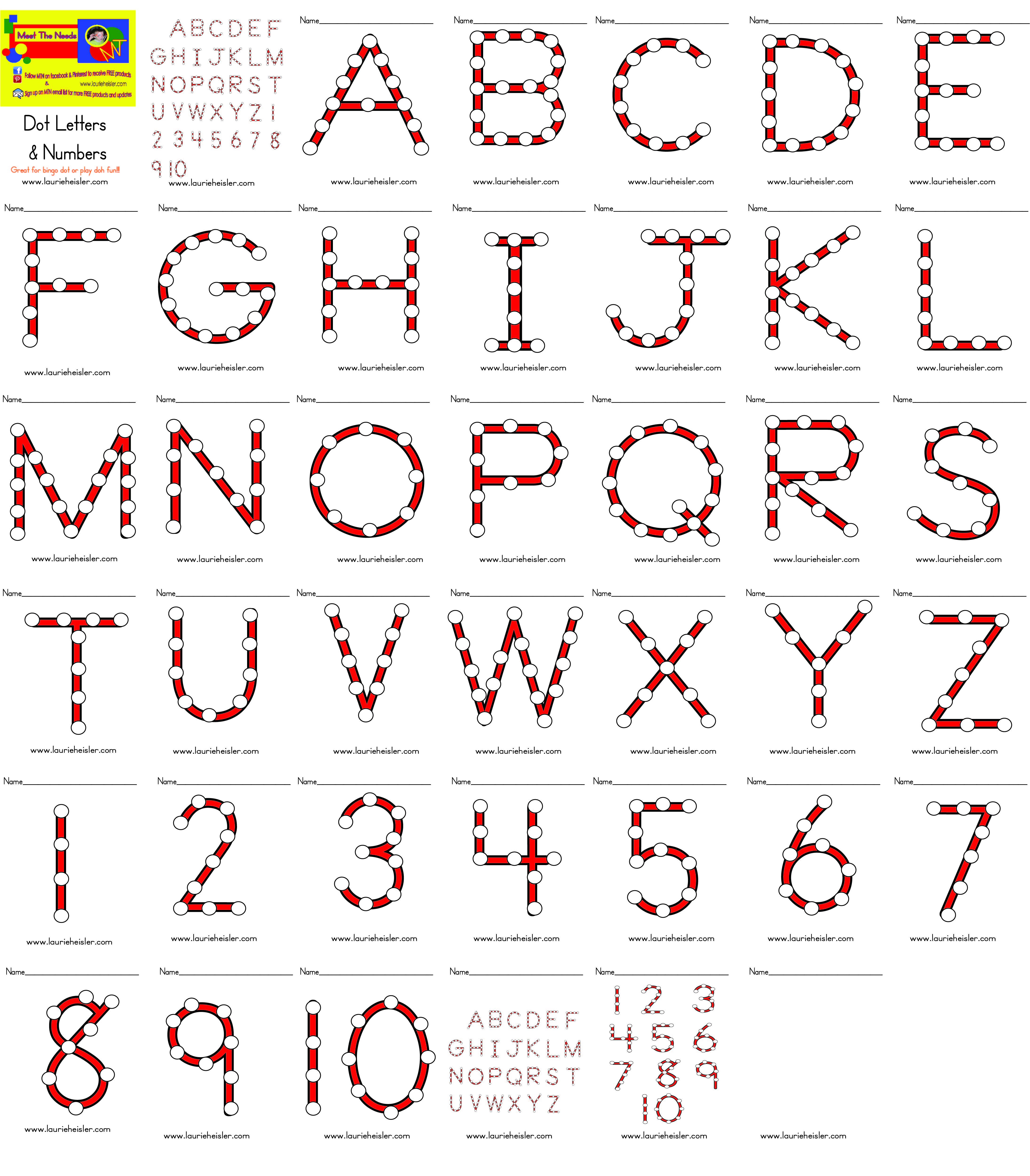 dot letters numbers meet the needs With dot to dot letters and numbers