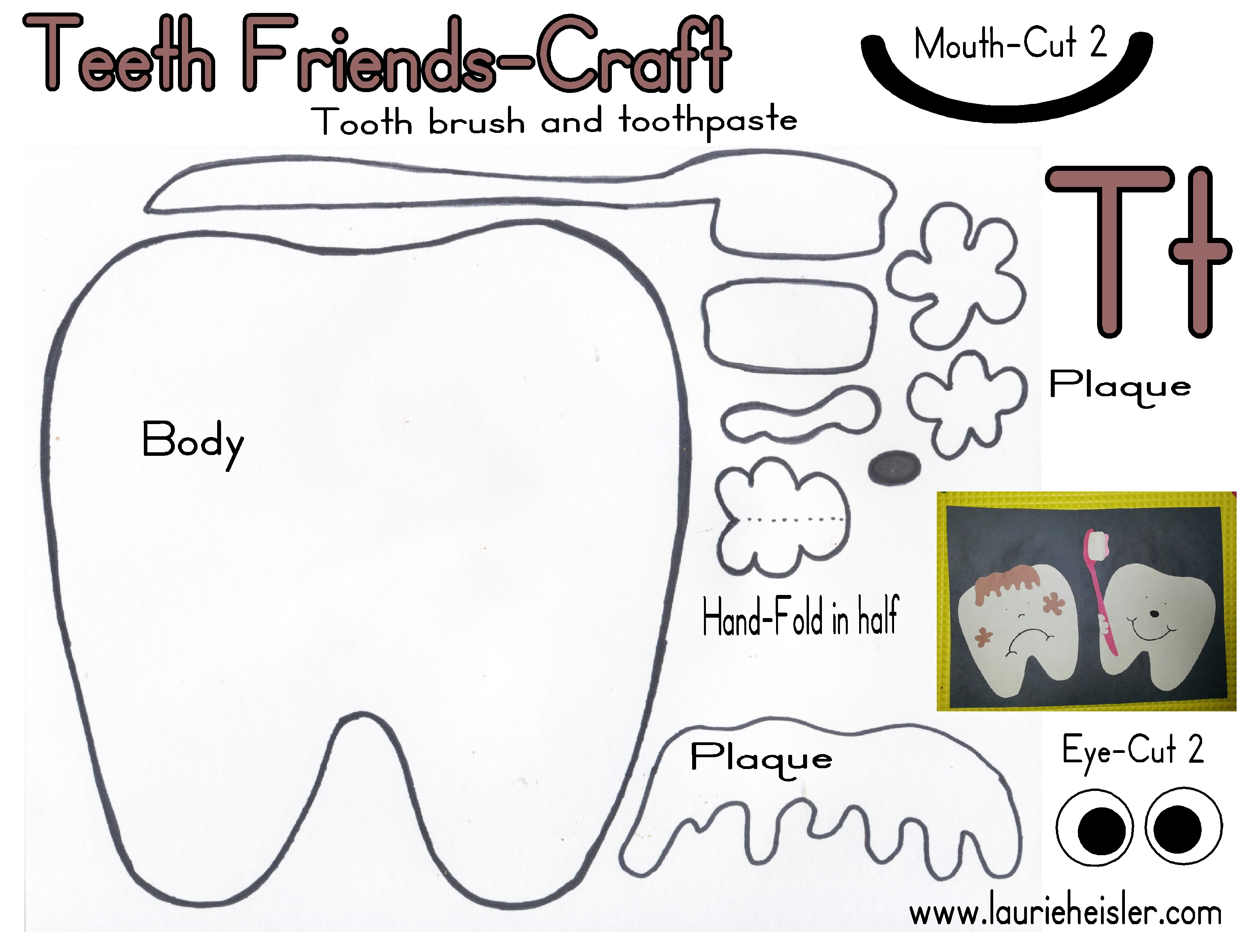 Teeth Friends Construction Paper Craft - Meet The Needs